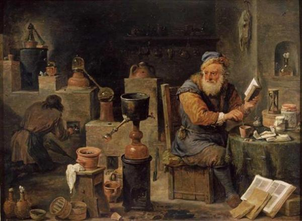 'The Alchemist.' (1640-1650) by David Teniers the Younger. (Public Domain)