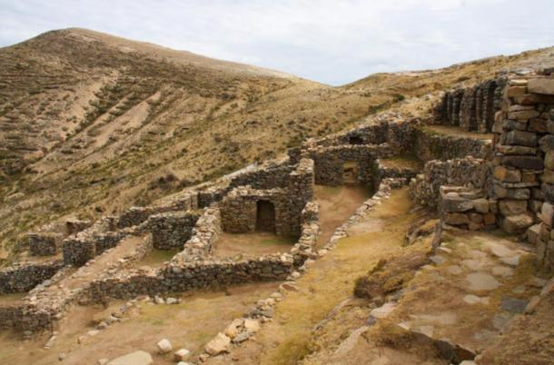 Las ruinas de Chincana, Isla del Sol, Lago Titicaca