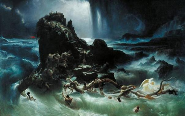 """""""El Diluvio"""" de Francis Danby, 1840."""
