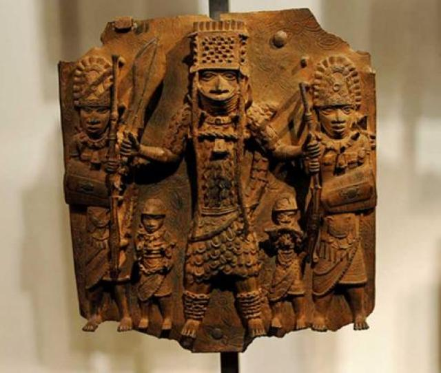 The Kingdom Of Benin Is Famous For Its Brass Castings This Finely Detailed Example Is