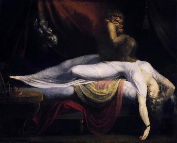 Le cauchemar '(1781) de Johann Heinrich Füssli.  (Domaine public)