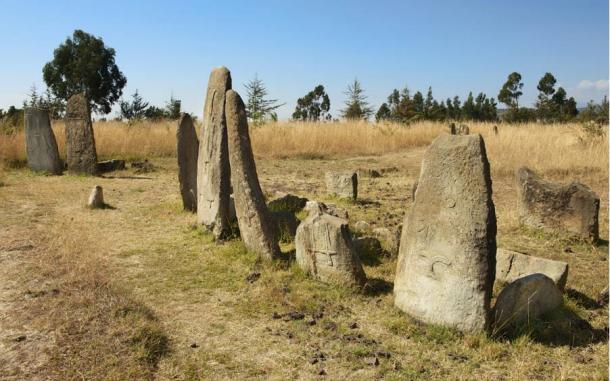 Tiya stones headstones of graves - Los megalitos de Etiopía (Tiya)