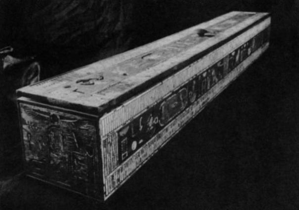 Necrópolis de Giza. Tumba de Hetepheres I. El cuadro de la cortina como restaurada en el Museo de El Cairo.