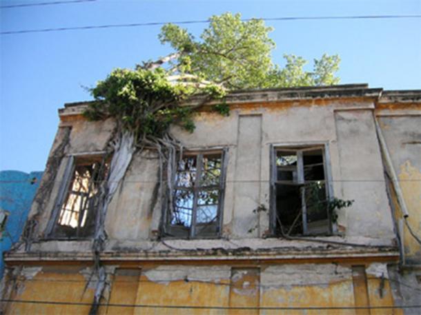 Un bâtiment abandonné à Mazatlan, au Mexique.