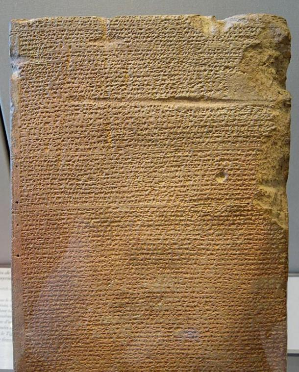 An example of a Cuneiform Tablet.  From Annals of Tukulti-Ninurta II, king of Assyria (890–884 BC), relating a campaign against Urartu. Found in Qalaat Shergat (ancient city of Assur). Photo by Jastrow, 2006. On display at the Louvre Museum.