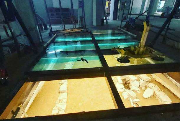 Under Floor Hiberno-Norse Structure Now On View At A Dublin Supermarket
