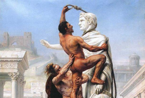 """Misleading 19th century depicting the """"barbarian"""" Visigoths sack of Rome in Late Antiquity Source: Public domain"""