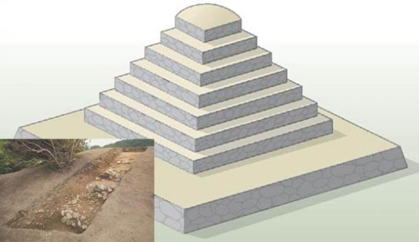 Pyramid-shaped tomb in Japan - Asuka