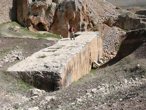 A megalith at Baalbek.