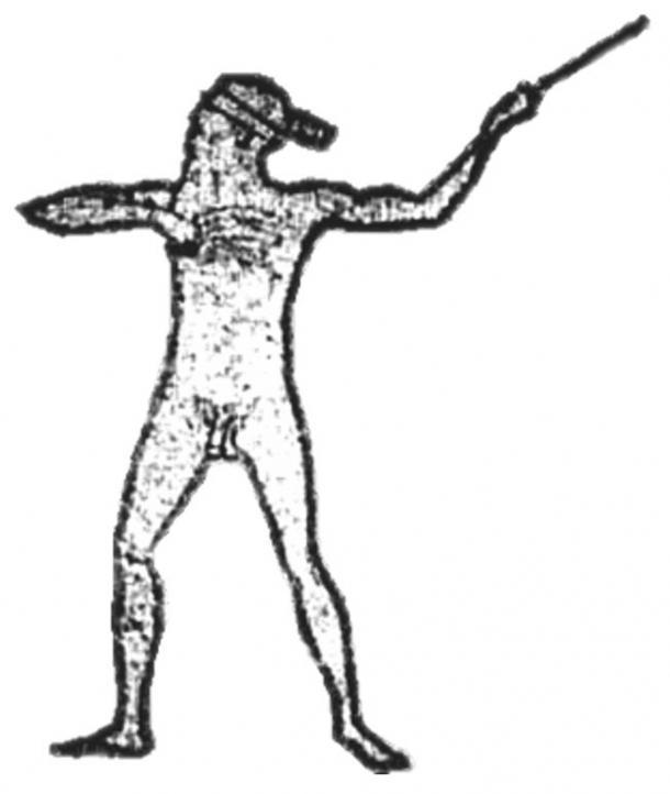 Une illustration montrant les grandes lignes de Marree Man par Lisa Thurston, 2005.