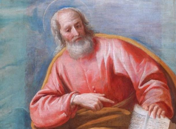Detail, painting of Mark the Evangelist