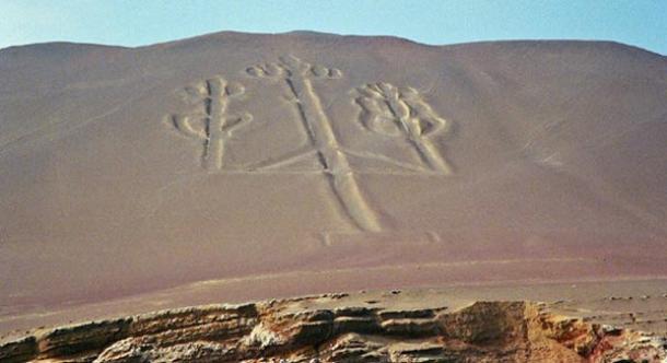 Il misterioso geoglyph preistorico del Paracas Candelabri