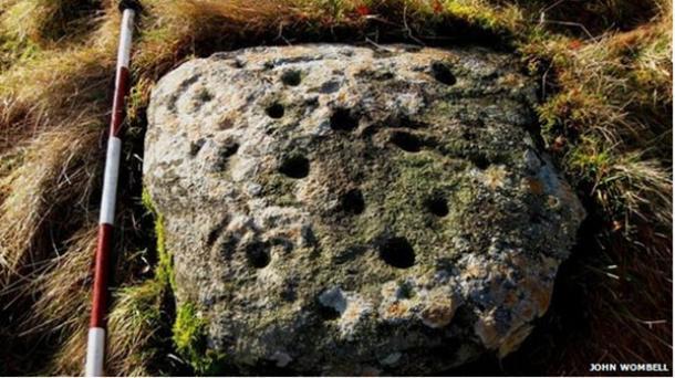 Arte antiguo roca rara en Escocia