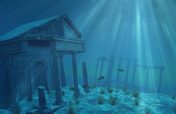 Rappresentazione artistica di Atlantide.