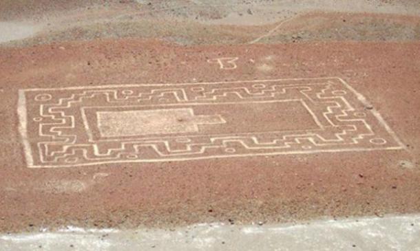 Wari geoglyph simile alle linee di Nazca trovati in Perù