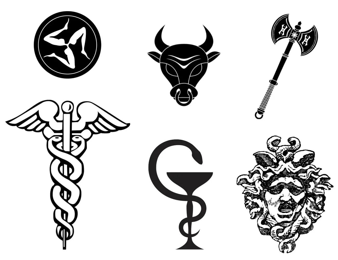 Greek Love Symbols Tattoos