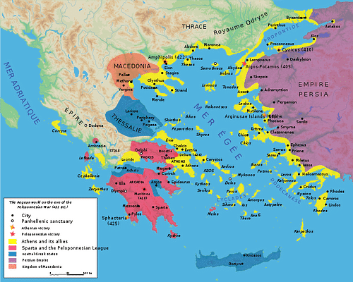 Spartan And War Map Athenian