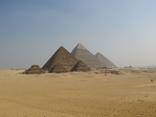 The Pyramids of Giza Panorama