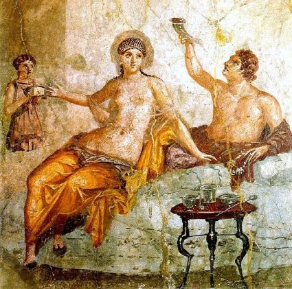 Image result for roman dinner fresco