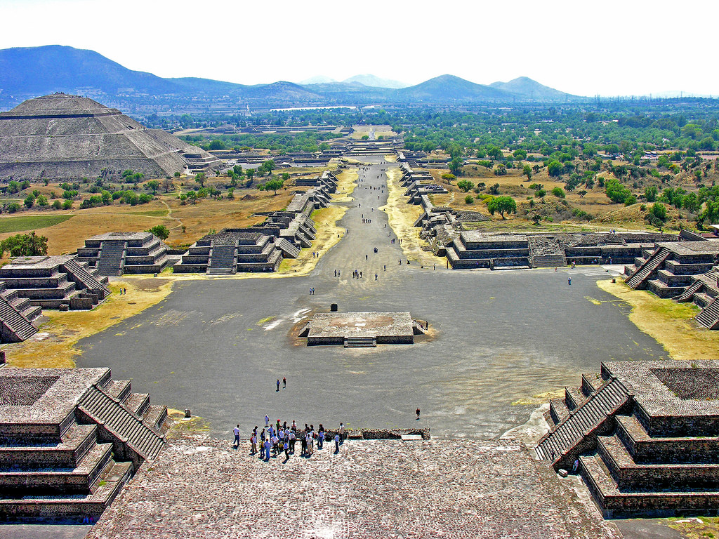 Avenue Of The Dead Teotihuacan Illustration Ancient