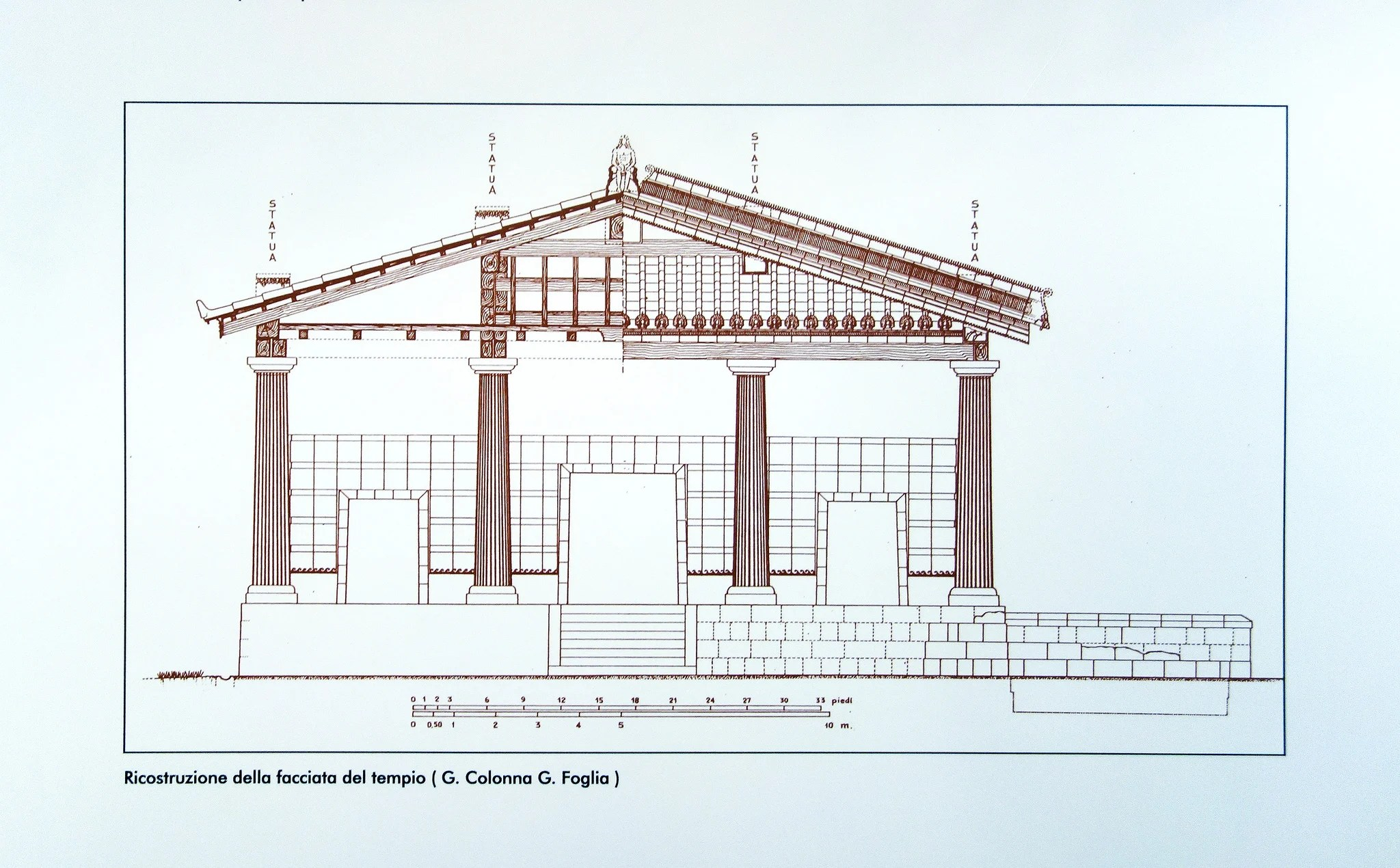 hight resolution of etruscan temple diagram