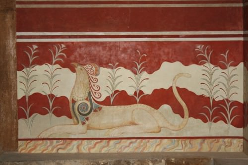 Griffin Fresco, Knossos, Crete