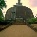 Rankoth Vehera in Polonnaruwa, Sri Lanka. The biggest stupa in the ancient city of Polonnaruwa, it's name literally means golden pinnacled stupa