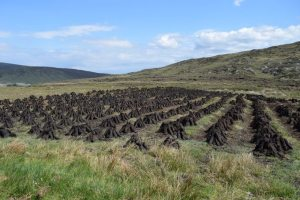 Drying Peat sen on tour of Ireland with Ancient Ireland Tourism