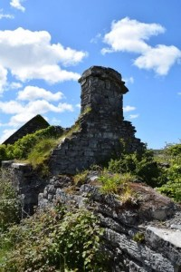 Old ruin in The Burren seen on Tour of Ireland