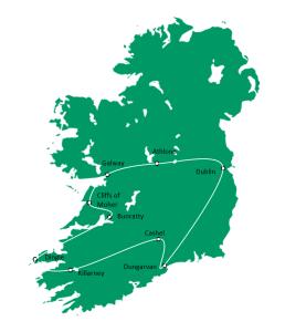 Heart of Ireland Map