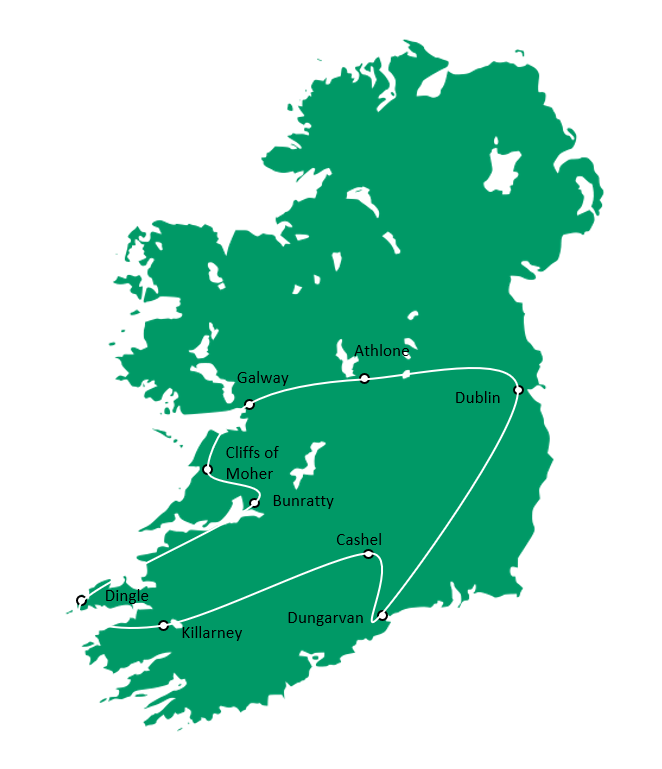 Heart of Ireland Map