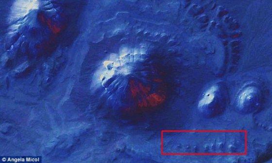 Estruturas antigas sob o deserto do Saara