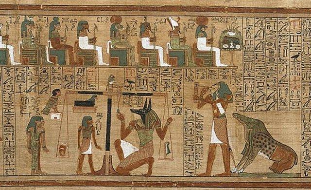 Anubis and scribent Ani mummy