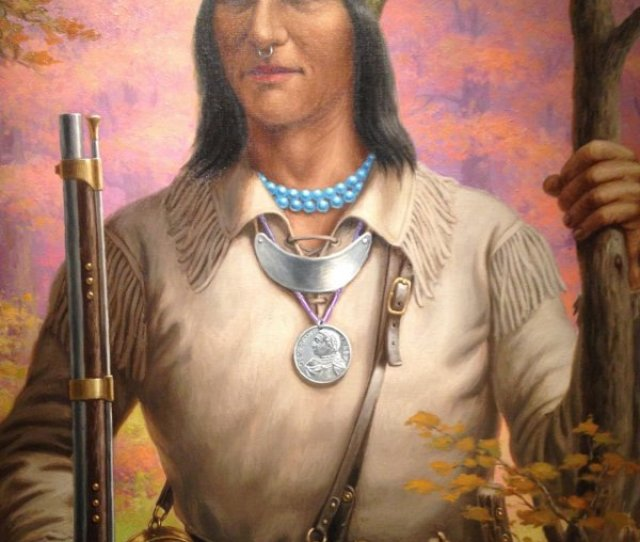 A Painting Of Tecumseh The Shawnee Leader Of A Tribal Confederacy That Opposed The U S