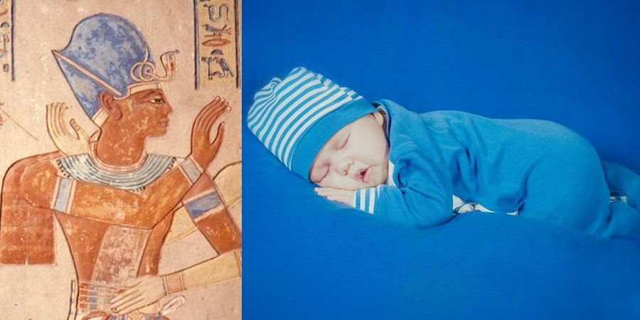 ancient people dressed baby