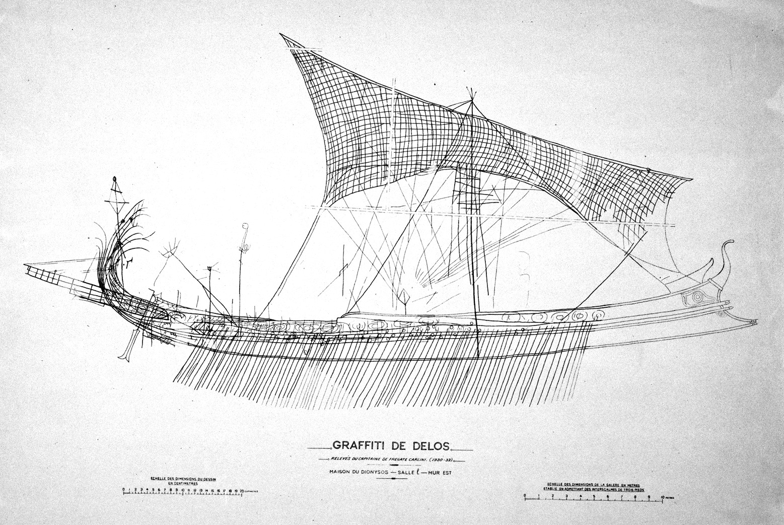 hight resolution of diagram of trireme ship