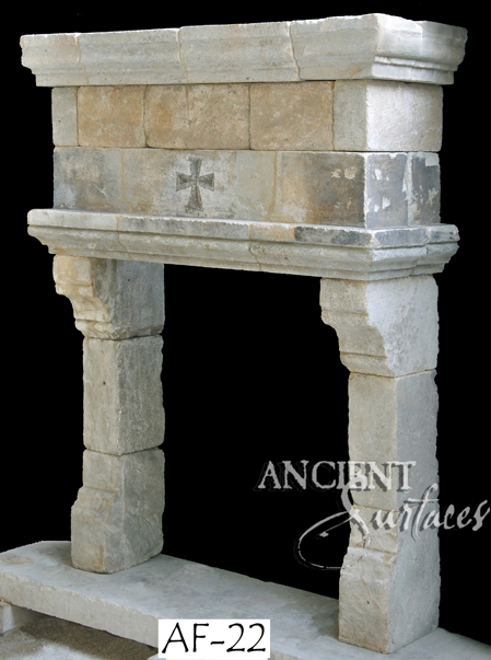 A Unique Collection of Antique Stone Fireplace Mantles by Ancient Surfaces Page 1