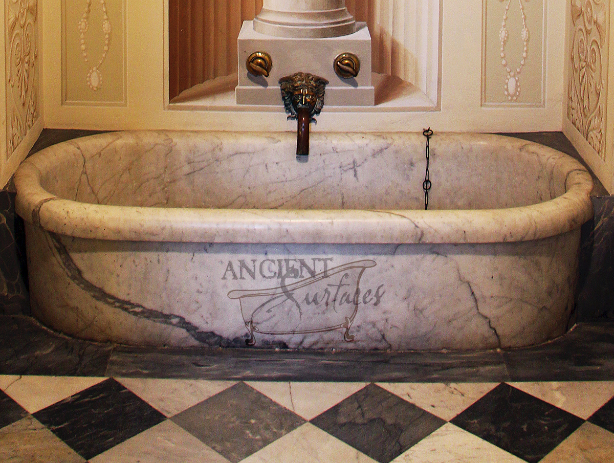 Antique and New Limestone and Marble Bath Tubs by Ancient Surfaces
