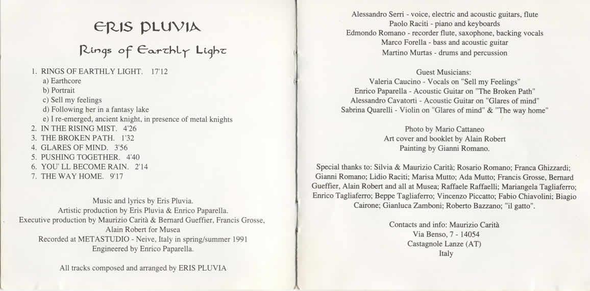 Rings of earthly light - 1991 - Eris Pluvia
