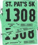 Image of track numbers for a road race