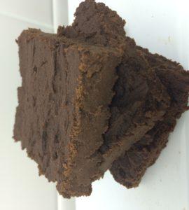vegan 6 ingredient low carb fudgy protein brownies and a dash of cinnamon