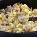 Clean vegetarian barley Egg Bowl