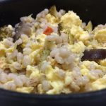 Clean vegetarian barley Egg Bowl
