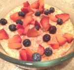 blueberry plum protein oatmeal...and a dash of cinnamon