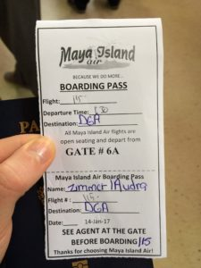 Paper Boarding Pass Belize...And A Dash of Cinnamon