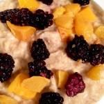 Blackberry Peach Protein Oatmeal [Clean, Vegan, GF]...And A Dash of Cinnamon