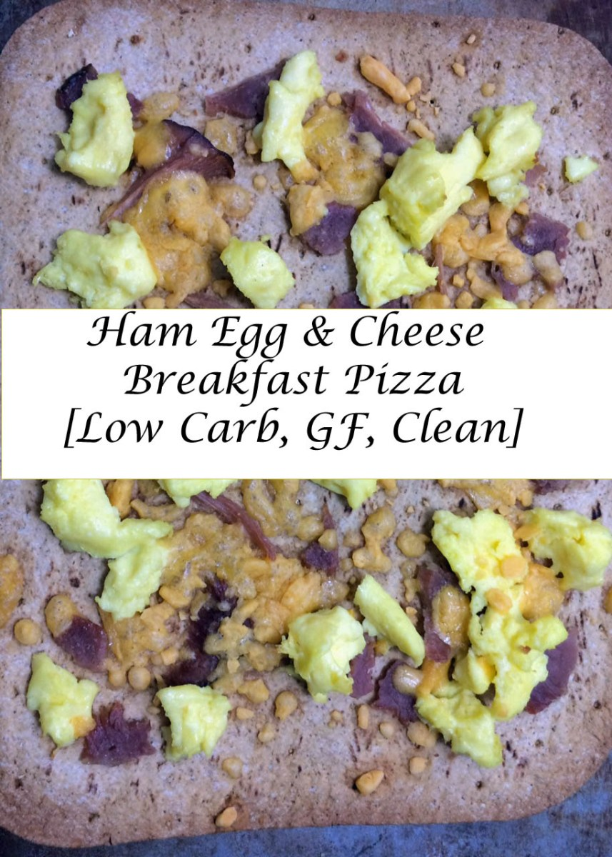 Ham Egg & Cheese Breakfast Pizza [Low Carb, GF, Clean]