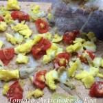 Tomato Artichoke & Egg Pizza [LC, Vegetarian, Clean, GF]...And A Dash of Cinnamon Part