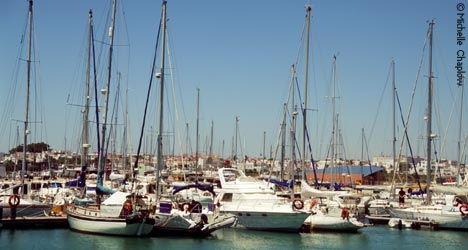 Restaurants and bars in the village of Rota in the Cadiz province Andalucia Southern Spain
