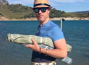 Cotton Beach Mat   Andalucian Rugs